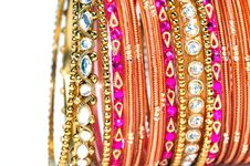 Free Golden Bangles Royalty Free Stock Image - 8182236