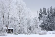 Free House In Winter Stock Photography - 8182972