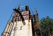 Free Abandoned Stone Quarry Machinery Stock Photography - 8183022