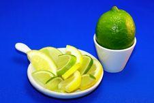 Free Green And Yellow Lemon Royalty Free Stock Photo - 8183035