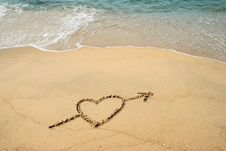 Free Heart In The Beach Stock Photo - 8183050