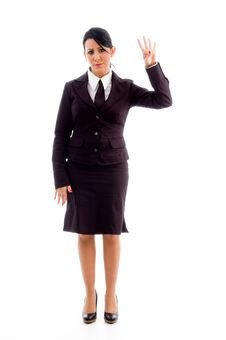 Free Young Lawyer Showing Counting Hand Gesture Royalty Free Stock Image - 8184526