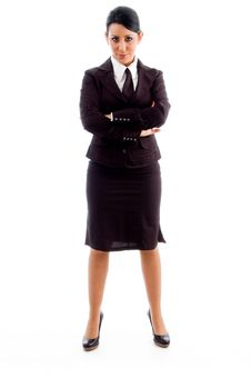Young Businesswoman With Crossed Arms Stock Images