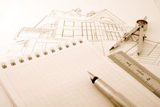 Free Architecture Blueprint Royalty Free Stock Images - 8185249