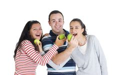 Free Friends Eating Apple Stock Photo - 8185250