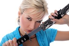 Free Girl And Katana Stock Photos - 8185583