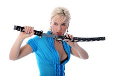 Free Girl With Katana Royalty Free Stock Image - 8185606