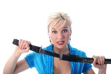 Free Katana And Girl Royalty Free Stock Photography - 8185667