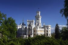 Free Romantic Castle Hluboka Royalty Free Stock Images - 8185939