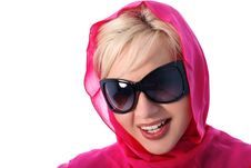 Free Blonde In Kerchief With Glasses Stock Images - 8186024