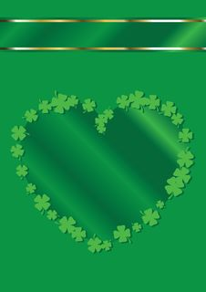 Free St. Patrick S Day Heart Shape Background Stock Image - 8186031