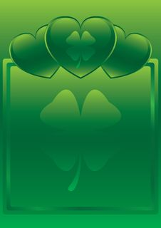 Free St. Patrick S Day Glossy Heart Background Stock Photos - 8186033