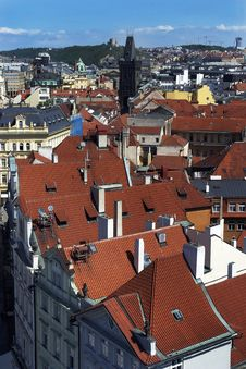 Prague S Roofs Royalty Free Stock Photography