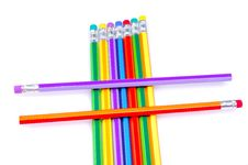 Free Colored Pencils Stock Photography - 8186102