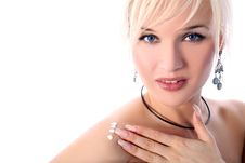 Free Girl With Moisturizer Isolated In White Royalty Free Stock Image - 8186306