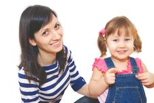 Free Girl And Her Mother Stock Images - 8186574