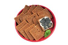 Free Bread & Butter & Black Caviar Royalty Free Stock Image - 8186696
