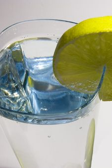 Free Glass Of Water With Lemon Stock Photo - 8186710