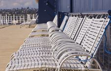 Free White Chaise Lounges On Ships Deck Stock Images - 8187104