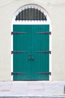 Free Green Doors Royalty Free Stock Photos - 8187178