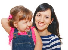 Free Girl And Her Mother Royalty Free Stock Images - 8187179