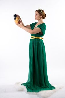 Free Lady In Green Handing Jug Royalty Free Stock Photography - 8187527