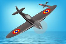 Free Spitfire Airplane Royalty Free Stock Photography - 8187537