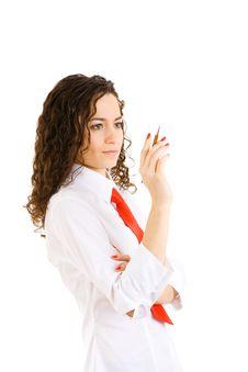 Free Secretary And Pen Stock Image - 8188181