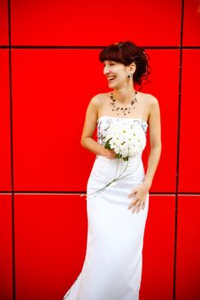Laughing Bride Royalty Free Stock Photos