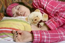 Free The Sleeping Girl. Stock Photos - 8188863
