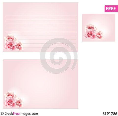 Free Wedding Recipe Card Royalty Free Stock Image - 8191786