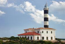 Sa Punta Lighthouse Royalty Free Stock Photos