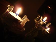 Free Flames Of Candles Royalty Free Stock Photos - 8190548