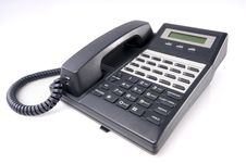 Free Office Phone Isolated With Clipping Path Stock Photography - 8190552