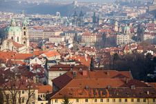 Free Prague Winter Panorama Royalty Free Stock Image - 8190676