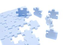 Free Blue Puzzle Royalty Free Stock Image - 8190786