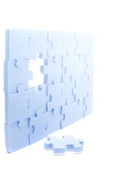 Free Blue Puzzle Royalty Free Stock Image - 8190796