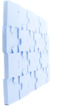 Free Blue Puzzle Royalty Free Stock Images - 8190819