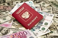 Free Passport With The Money Royalty Free Stock Photos - 8190988