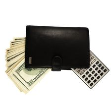 Free Leather Wallet With Money And A Calculator Stock Images - 8191014