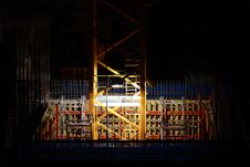 Construction At Night Stock Image