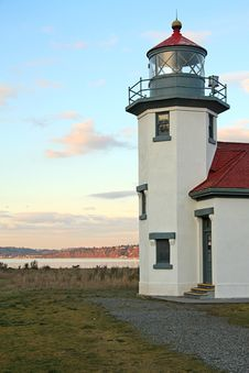 Free Robson Point Lighthouse Tower Stock Photography - 8191152