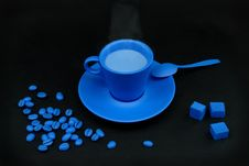 Free Blue Coffee Stock Image - 8191491