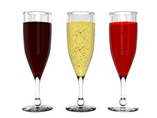Free Champagne And Wine In Glass Stock Photography - 8192212