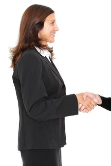 Free Business Woman Shaking Hands Royalty Free Stock Photo - 8192225
