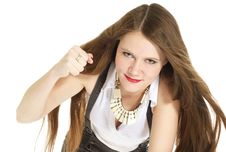 Free Woman Aggression Stock Images - 8192824