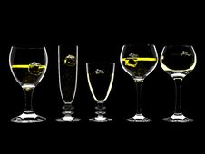 Free Champagne Or Wine With Ice In Glass Stock Photos - 8192943