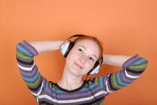 Free Woman In Headphones Royalty Free Stock Photos - 8193028