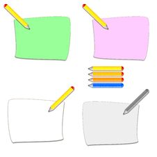 Free Pencil And Sheet Icons Royalty Free Stock Image - 8193266