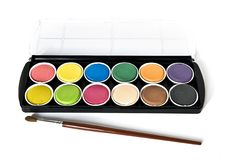 Free Black Box Of Watercolors On White Royalty Free Stock Images - 8193349